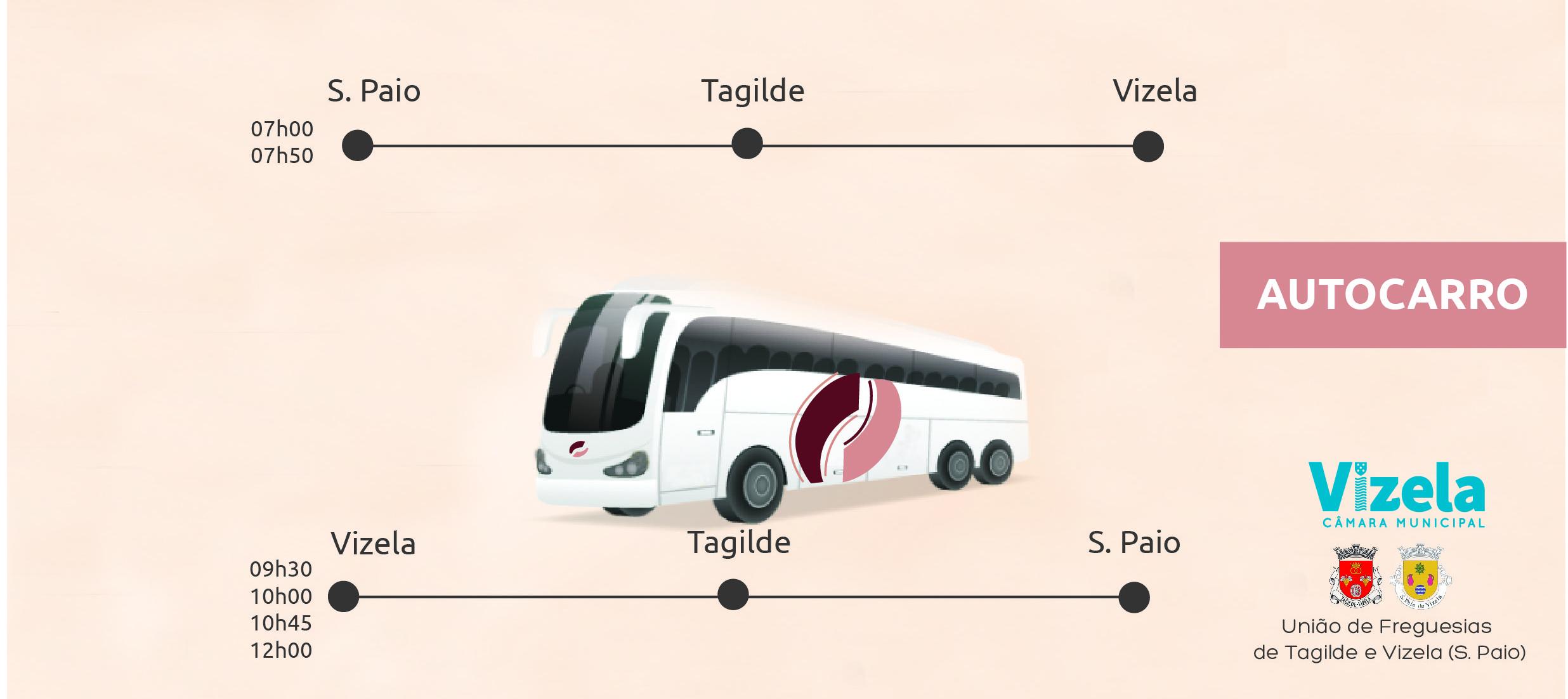 Transporte público aos sábados entre Tagilde / S. Paio e Vizela