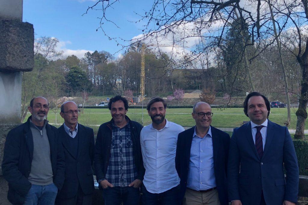 Câmara Municipal e UF S. Miguel e S. João visitaram obras no Parque das Termas