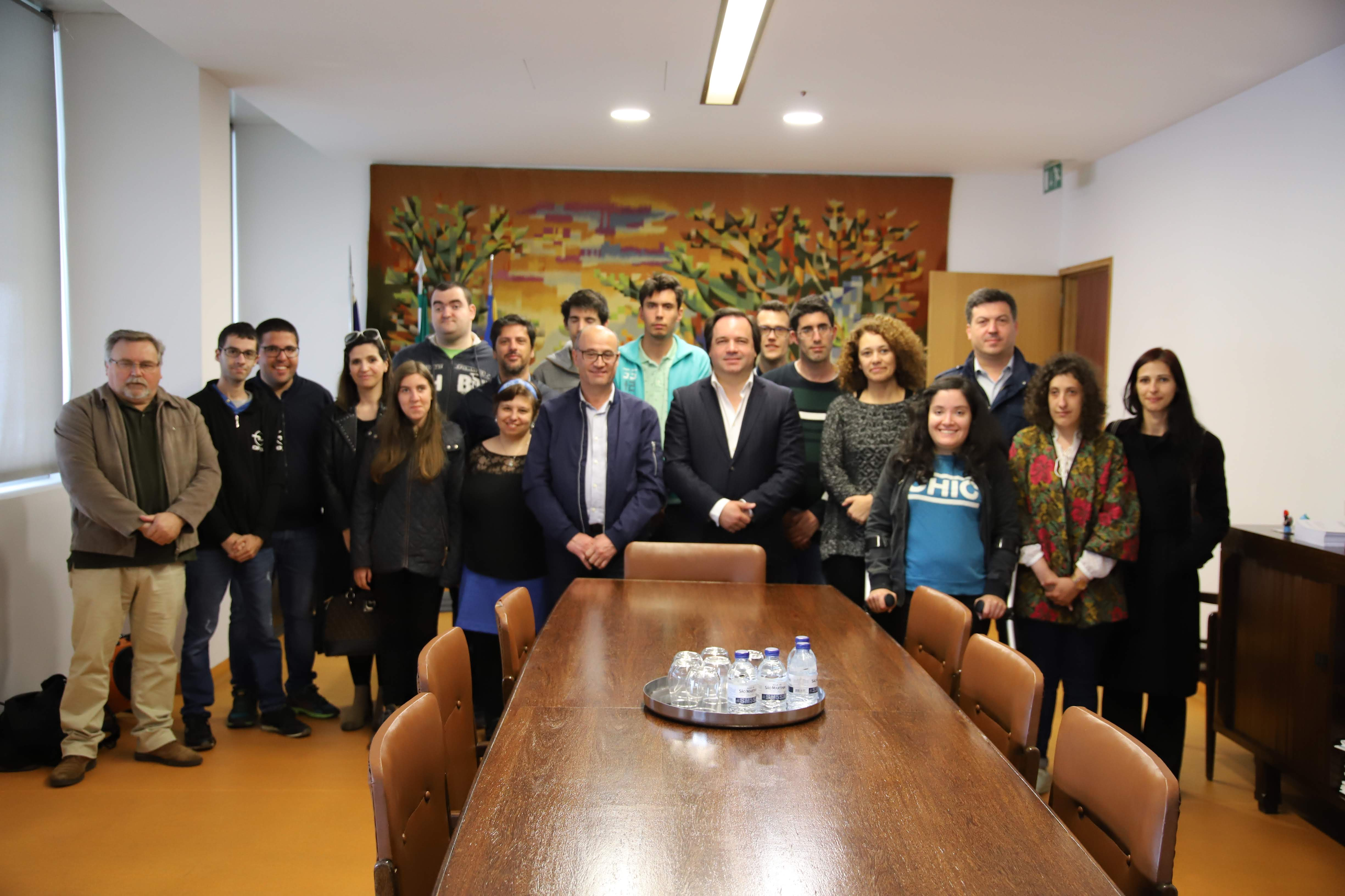 Câmara recebeu alunos do CRFP da CERCIGUI