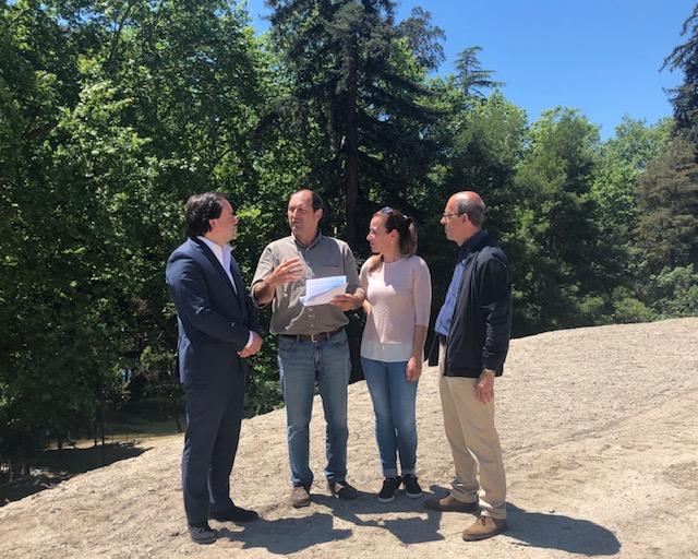 Câmara Municipal, UF S. Miguel e S. João e ICNF visitaram obras noParquedas Termas