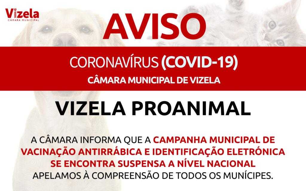 CAMPANHA MUNICIPAL DE VACINAÇÃO ANTIRRÁBICA SUSPENSA A NÍVEL NACIONAL